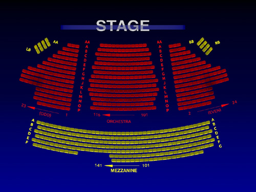 American Airlines Theatre Interactive Seating Chart