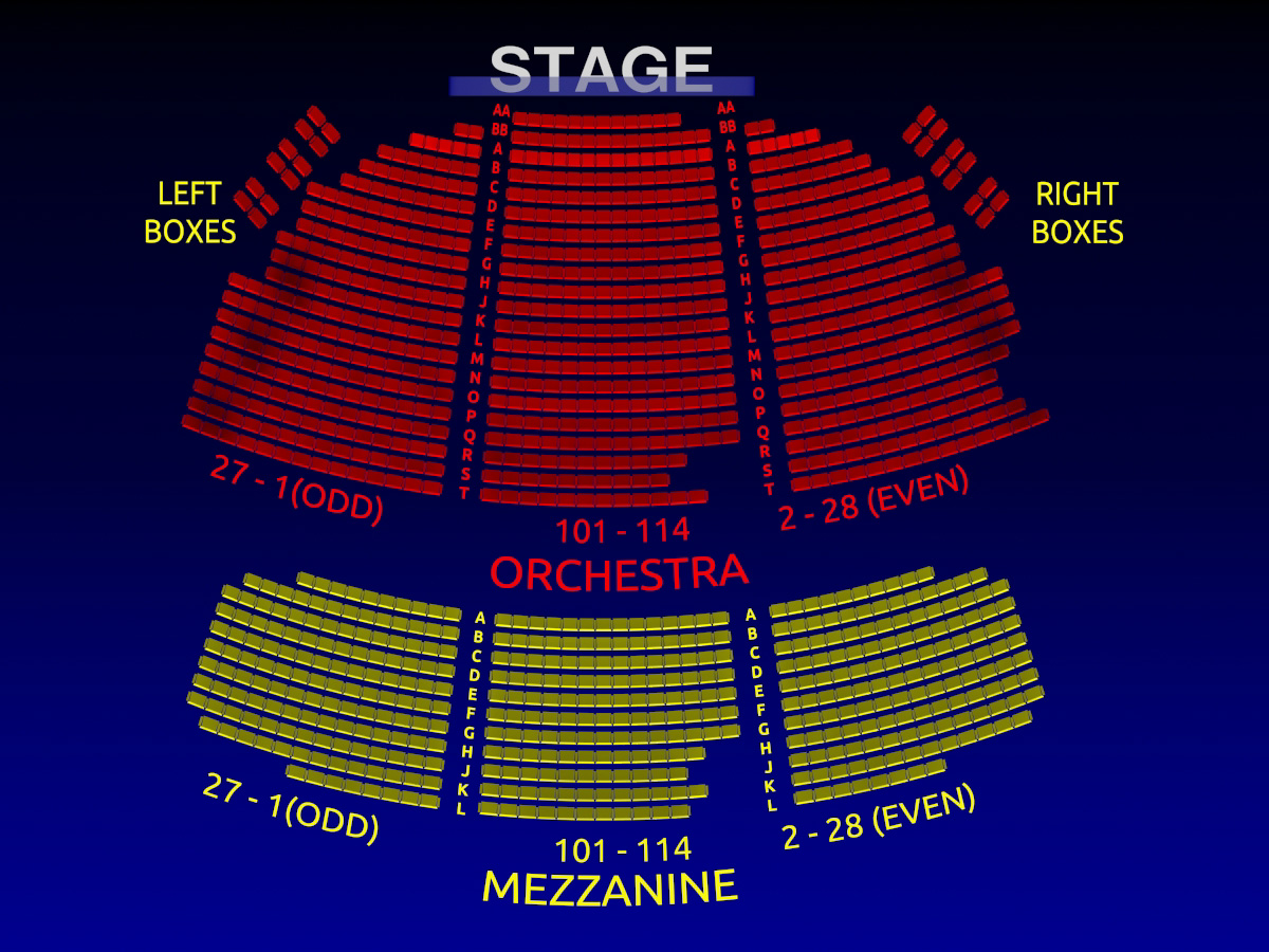 Foxwoods Theatre Seating Chart Pictures