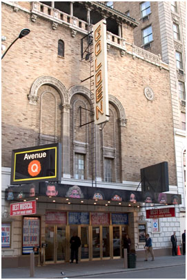 The exterior of the John Golden Theatre can be seen in the movies A Chorus Line and All About Eve.