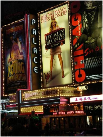 Sweet Charity was the first legitimate to be theatre production housed by the Palace in 1966.
