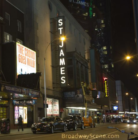 The St. James Theatre stands on the site of the original Sardi's restaurant.