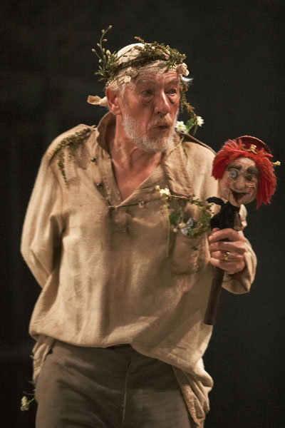 Ian McKellen, as King Lear, will be on Broadway this season with Patrick Stewart in Waiting for Godot and No Man's Land.