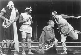 "From All Tickets Phil Silvers, Larry Blyden and Carl Ballantine in ""Forum."""