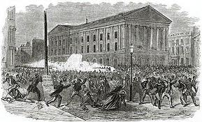 The 1849 riot was bloody.