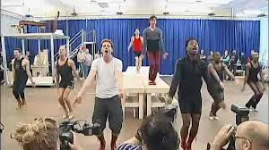 """Rehearsing the musical Kinky Boots"""