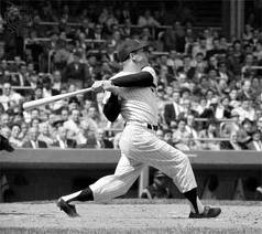 Mantle was a major slugger.