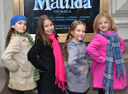 Matilda the musical Broadway, girls playing Matilda