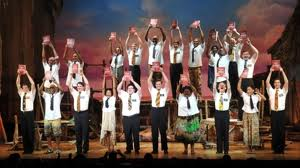 Book of Mormon is irreverent fun.