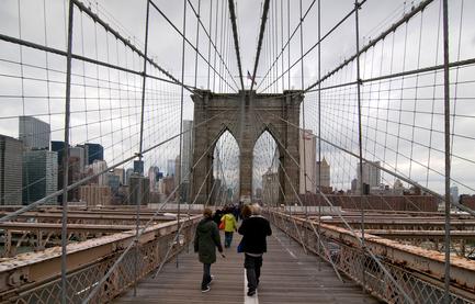 Walking Brooklyn Bridge