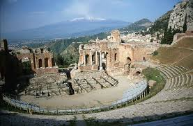 An Greek theatre, with its dancing circle.