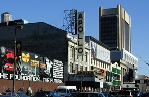 The historic Apollo Theatre in Harlem.