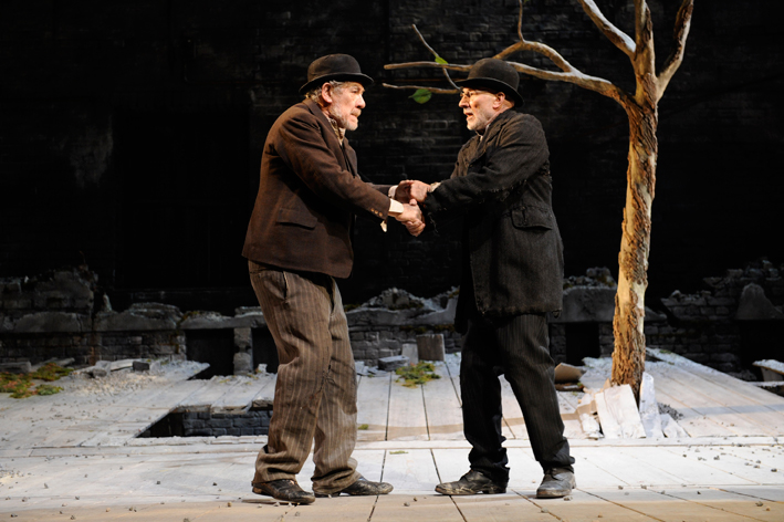 an analysis of the mood in samuel becketts play waiting for godot Based on the play waiting for godot by samuel beckett summary: two men, vladimir and estragon, meet near a tree they converse on various topics and reveal that they are waiting there for a man named godot while they wait, two other men enter pozzo is on his way to the market to sell his slave, lucky.
