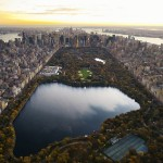 Aerial view of Central Park and Manhattan