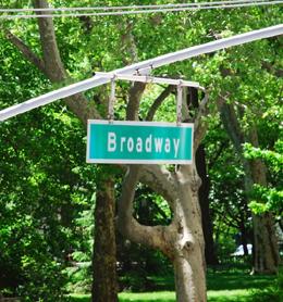 Broadway Street Sign