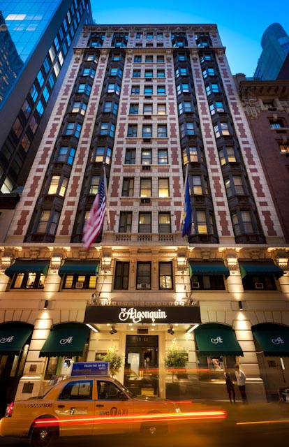 The algonquin hotel times square all tickets inc for Dog friendly hotels nyc