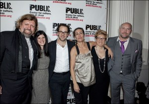 Public Theater - Fun Home opening night, cast, creative team and attendees