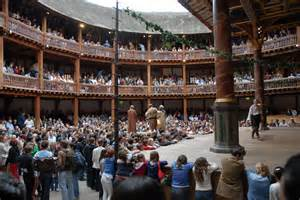 The recreation of The Globe Theatre.