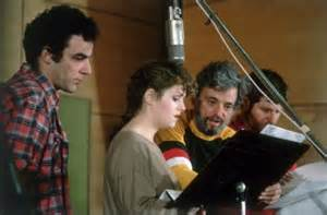 Mandy Patinkin recording a cast album.