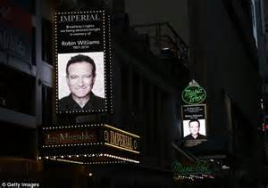 Lights dimmed on Broadway in tribute.