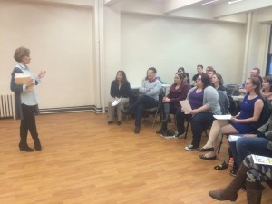 Stage Door Connection acting workshop run by Tony winner Joanna Gleason.
