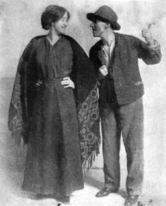 "Irish actors Sara Allgood (""Widow Quin"") and J. M. Kerrigan (""Shawn Keogh""), in The Playboy of the Western World, Plymouth Theatre, Boston, 1911"
