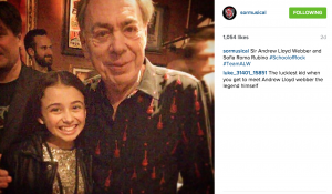 Sir Andrew Lloyd Webber and Sofia Roma Rubino