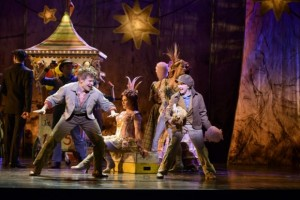 Andrew Keenan-Bolger as Jesse Tuck and Sarah Charles Lewis as Winnie Foster.