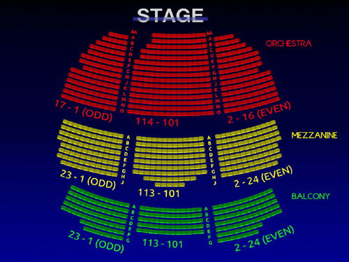 Interactive 3D Seating Chart
