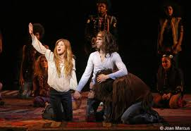 """""""Caissie Levy in the Broadway revival of Hair"""""""