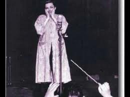 """""""Judy Garland on stage at the Palace Theatre Broadway"""""""
