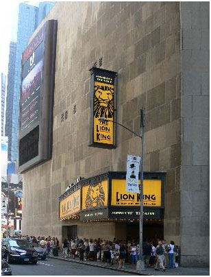 To prepare for the opening of Disney's The Lion King in 2006 over 200 artists worked almost six months to renovate the theatre.