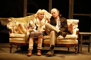 Amanda Plummer and Brad Duriel in The Two-Character Play.