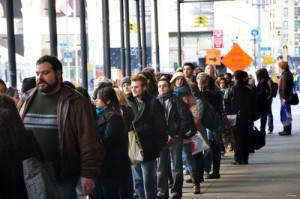A typical open call can have long lines.