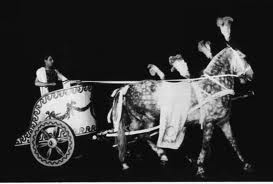 Ben Hur on stage included the chariot race.