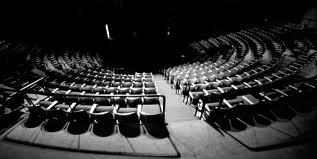 A dark theatre.