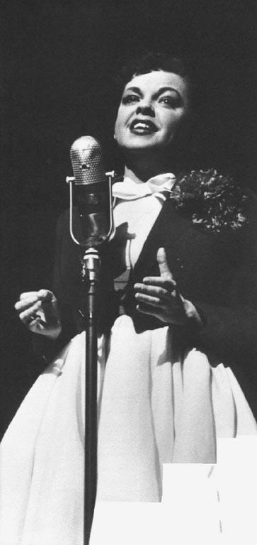 Judy Garland on Broadway.