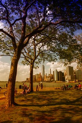 NEW YORK CITY - JUN 9: Tourists enjoy Governors Island, June 9,
