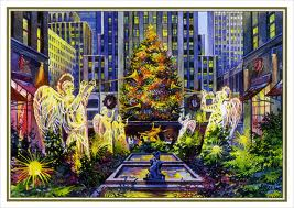 The magnificent Christmas tree at Rockefeller Center.