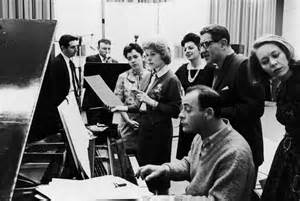 Rehearsal for the 1962 Broadway revival.