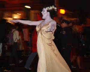Bride of Frankenstein on the parade route.