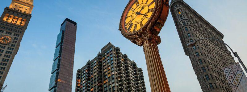Landmark Fifth Avenue cast iron sidewalk clock
